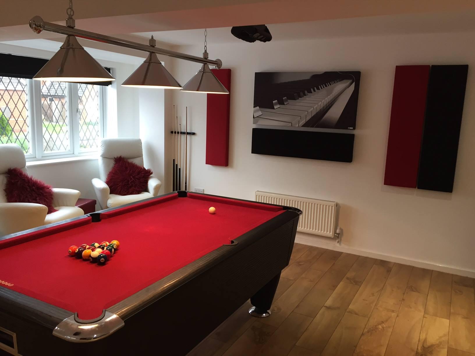 GIK Acoustics ArtPanel and Spot Panels billard room