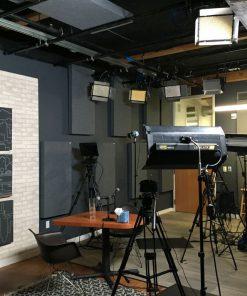Jesse Gay Treehouse Studio GIK Acoustics 242 Acoustic Panels and Lights