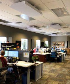 Shaun Schroeder JSA Insurance Office Ceiling Cloud Brackets GIK Acoustics 242 panels