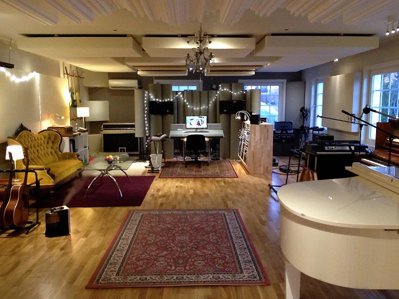 Custom Monster Bass Traps in Norwegian Grammy winner Espen Lind's Oslo Studio designed by HdAcoustics