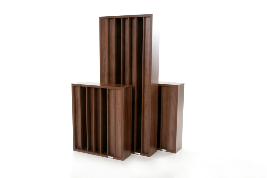 Two GIK Acoustics Demi Q7d Diffusors with standard, full-size Q7d Diffusor