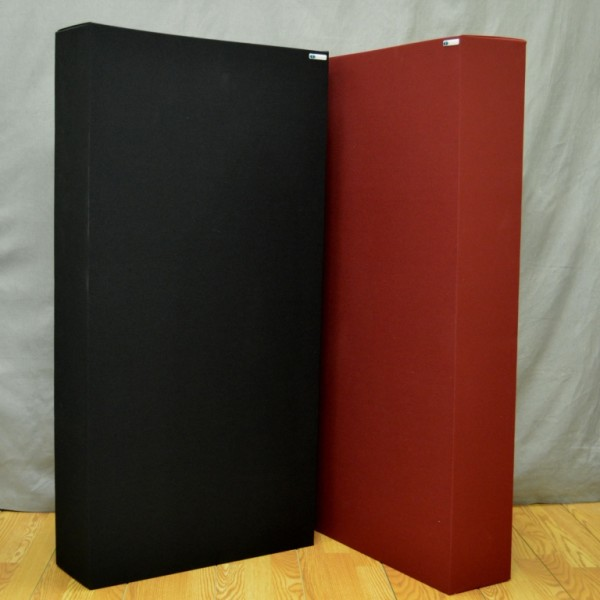 GIK Acoustics Monster Bass Traps black burgundy
