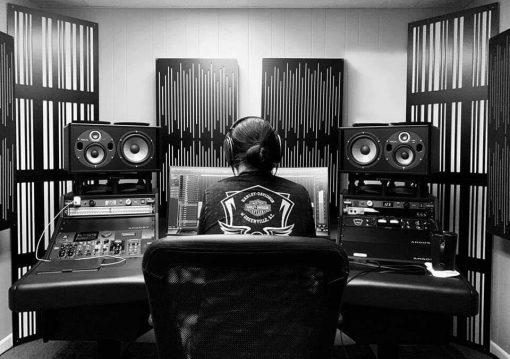 Brandon Moore Mixing Studio GIK Acoustics Alpha Series