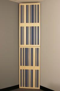 GIK Acoustics Corner CT Alpha Bass Traps stacked in corner