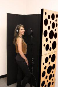 Deux PIB (Portable Isolation Booths) pour un enregistrement de voix