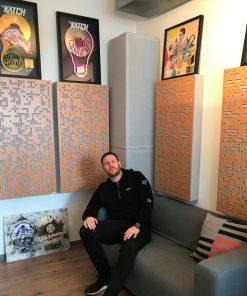 DJ Katch in Studio GIK Acoustics Alpha Series Pro
